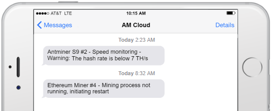 Awesome Miner Cloud SMS